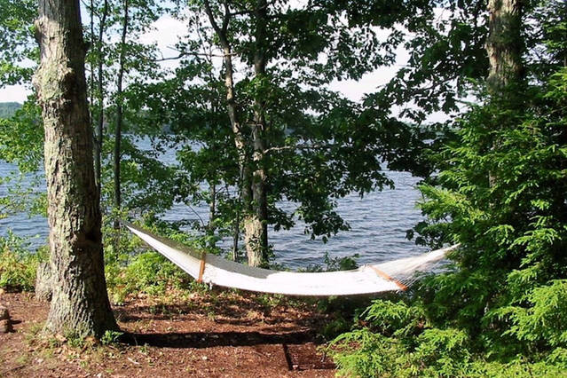Hammock on the south end.